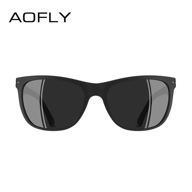 AOFLY BRAND DESGIAN Fashion Sunglasses Men Square TR90 Frame Polarized Sun Glasses Male Outdoor Sports Shades AF8081 3