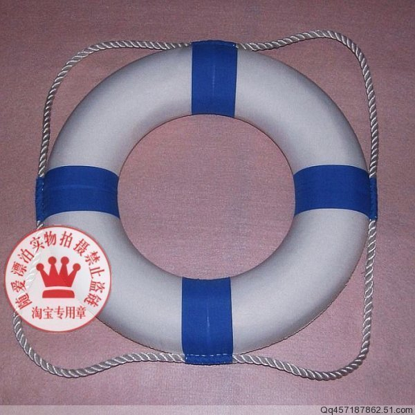 30% OFF For survival & EMERGENCY US Foam ring life buoy bunts handmade sewing , inflatable , WITH ROPE