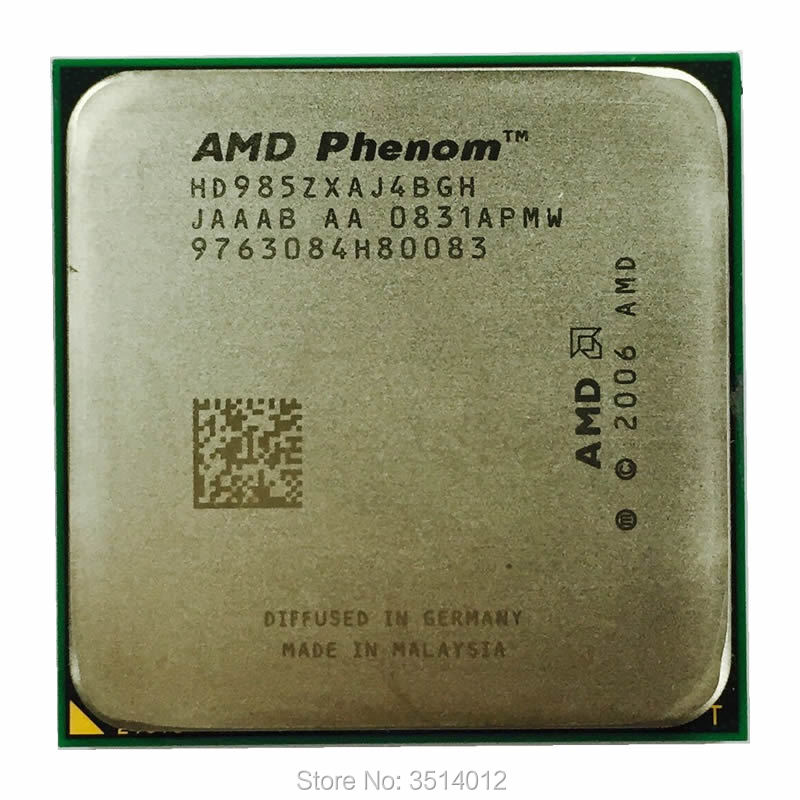 AMD CPU AM2 X4 9850 Quad-Core Ghz 985Z No Processor-Hd985zxaj4bgh/hd9850xaj4bgh-Socket title=