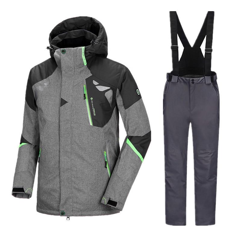 Image 4 - Thicken Winter Suit Ski Suit Men Ski Jacket Snowboard Suit Men Snowboarding Suits Snowboarding Set Male Winter Ski Suit SnowsuitSkiing Jackets   -