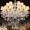 New Luxury Modern K9 Crystal Chandelier Lustres De Cristais Ceiling Living Room Pedant Ceiling Lamp Home