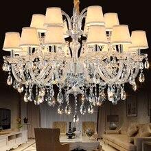 مصابيح الثريا الفاخرة الحديثة K9 كريستال الثريا لوستريس دي كريستال مصباح غرفة المعيشة تركيبات إضاءة المنزل الثريات الخفيفة