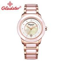 Gladster Japanese Miyota 2115-3H Fashion Female Watch Luxury Brand Waterproof Lady Dress Quartz Watch Steel Ceramic Woman Clock