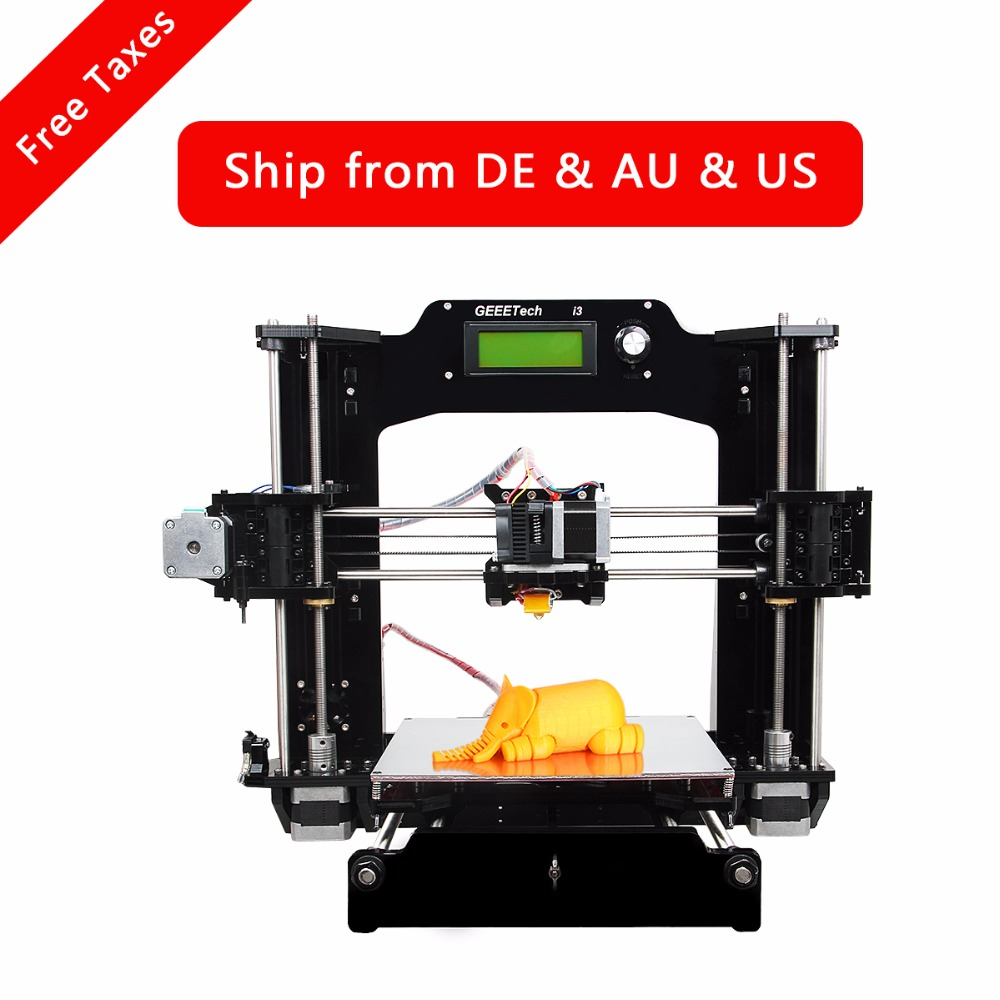 Geeetech Prusa I3-X 3D Printer Full Acrylic Frame New Upgraded Quality High Precision Reprap Prusa DIY Kits LCD Free