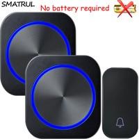 SMATRUL Self Powered Waterproof Wireless DoorBell No Battery EU Plug Home Smart Cordless Door Bell 1