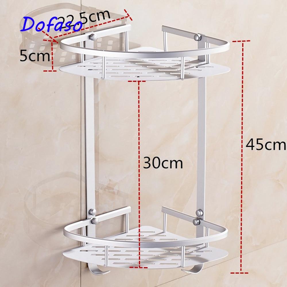 Dofaso bathroom corner rack storage shower shelf aluminium wall organizer
