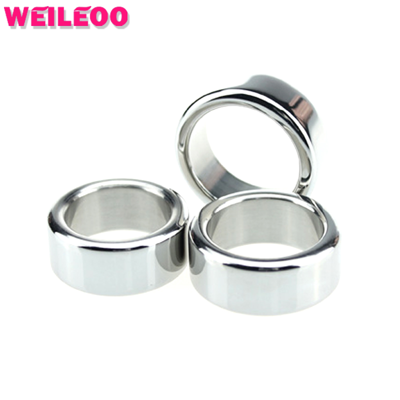 Reinforced type delay cock ring stainless steel penis ring cockring ball stretcher adult sex toys for