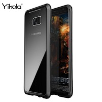 Shockproof Cellphone Shell Luphie Luxury Metal Bumper Tempered Glass Cover Case For Samsung S8 S8 Plus