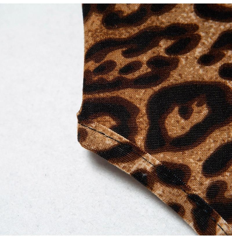 Women's Sexy Lingerie Bodysuits Leopard Print Nightwear Underwear Sexy Hot G-string Erotic Deep V Neck Babydoll (6)