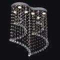 91122/6 luz do candelabro de cristal de luxo de moda escada led pingente lâmpada para foyer sala de jantar restaurante decoração
