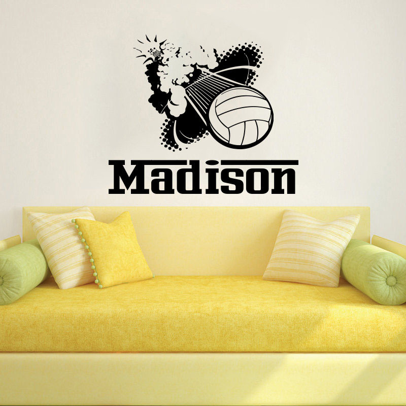 Popular Volleyball NameBuy Cheap Volleyball Name Lots From China - Vinyl volleyball wall decals
