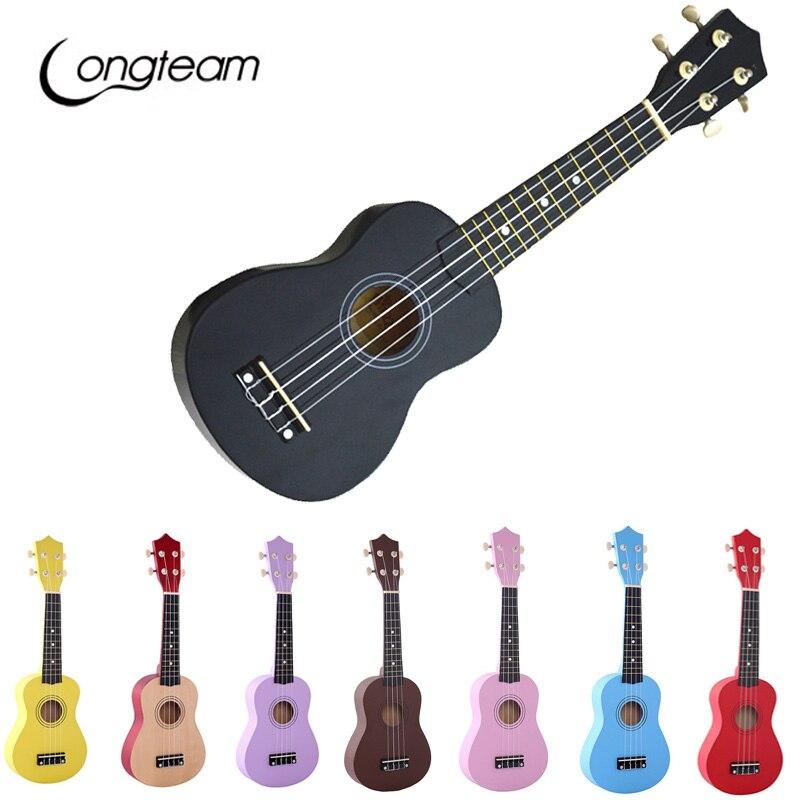 longteam ukulele 21 inch ukelele soprano nylon 4 strings hawaiian basswood guitar uke string. Black Bedroom Furniture Sets. Home Design Ideas
