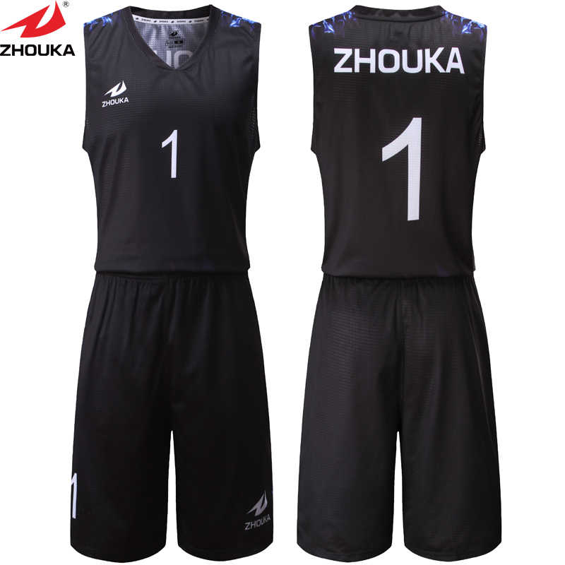 d6fa759c716 Black Color Sublimation Printing Custom Men's Summer Basketball Clothes  Sets Basketball Jersey Shorts Running Training Suit