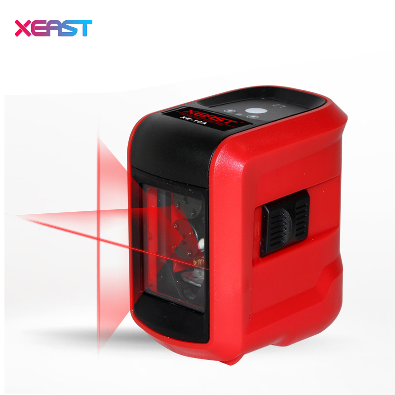 XEAST XE-15A Mini Red Laser Level 2 Lines Horizontal/Vertical Line Measuring Instrument Cross Laser With Oblique Line mai spectrum mp110 laser marking instrument cast line instrument line level instrument whole sale retail