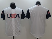 2017 World Baseball Classic Jersey Polos Tees Baseball Team Jerseys 2017 White Gray Colors Size From