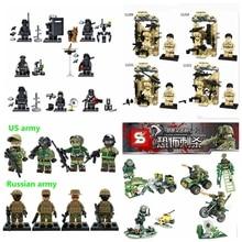 DECOOL SWAT World War 2 Minifigure WW2 Military Police Weapon Building Blocks Brick Falcon Commandos Army Enlighten Toys