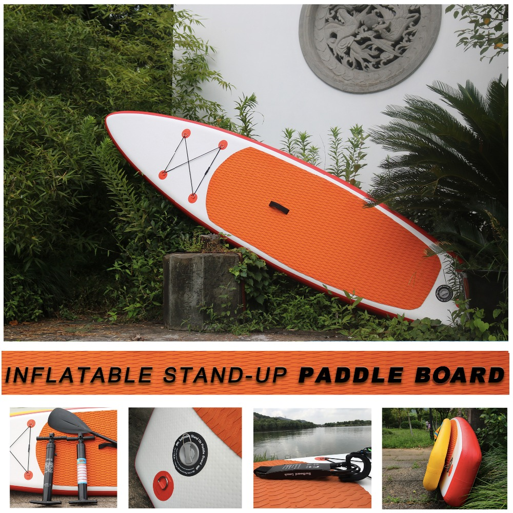 Free Shipping Premium Quality and Cheap Inflatable Stand Up Paddle Surfboard with optional leash paddle and