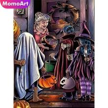 MomoArt Diamond Painting Halloween Embroidery Full Square Rhinestone Mosaic Cartoon Home Decoration