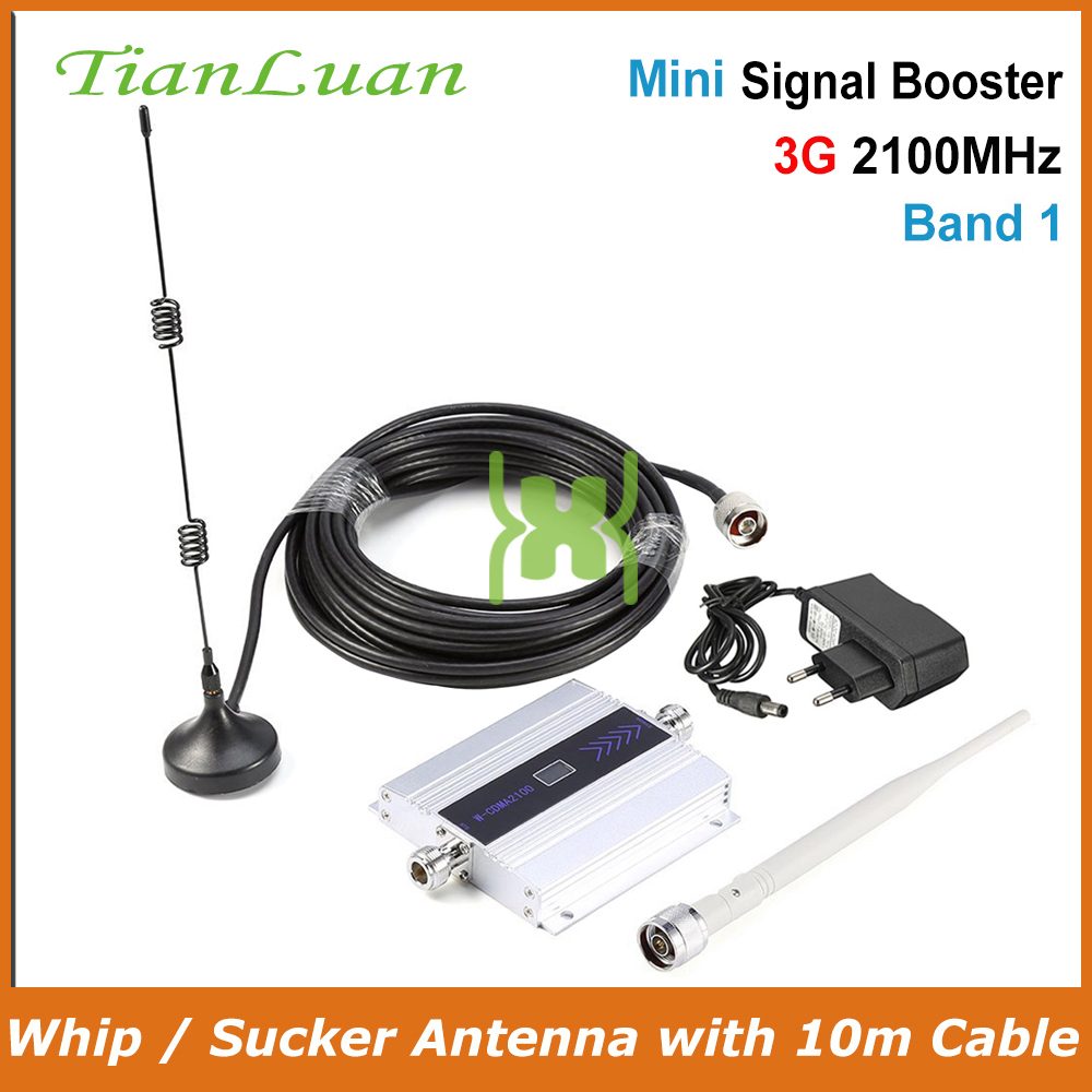 TianLuan 3G W CDMA 2100MHz Mobile Phone Signal Booster 3G 2100 MHz UMTS Signal Repeater Cell Phone WCDMA Amplifier with Antenna