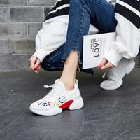 2019 Designer Summer Big Size 40 Womens Running Shoes Hidden Increase 5cm Sports Shoes Ladies White&Black Girls Walking Sneakers