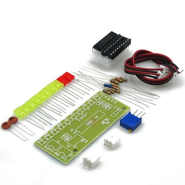 Aliexpress com : Buy LM3915 10 LED Indicator Kit Accessories Sound Audio  Spectrum Analyzer Level DIY Electoronics Soldering Practice Set New from