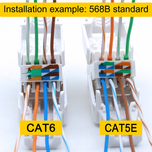 Image 4 - Xintylink toolless 이더넷 케이블 커넥터 rj45 cat6 플러그 cat5 cat5e 네트워크 rj 45 8P8C cat 6 utp 비 차폐 모듈러 잭 lan