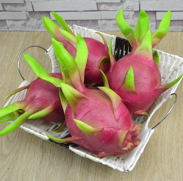 Awesome PU Artificial Simulation Pitaya Model House Kitchen Party Decoration  Plastic Crafts Free Shipping