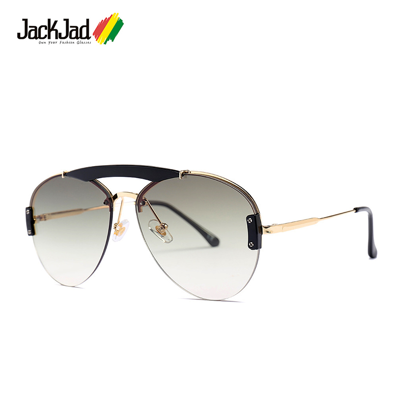 JackJad 2019 Fashion Pilot Aviation Style Sunglasses Double Beams Vintage Gradient Brand Design Sun Glasses Oculos De Sol 23095