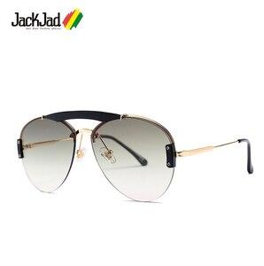 JackJad 2019 Fashion Pilot Aviation Style Sunglasses Double Beams Vintage Gradient Brand Design Sun Glasses Oculos De Sol 23095(China)