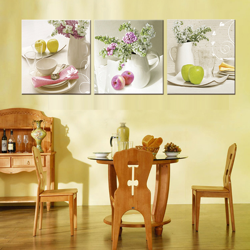 4 Pieces/set Modern Flower paintings large canvas print wall art ...