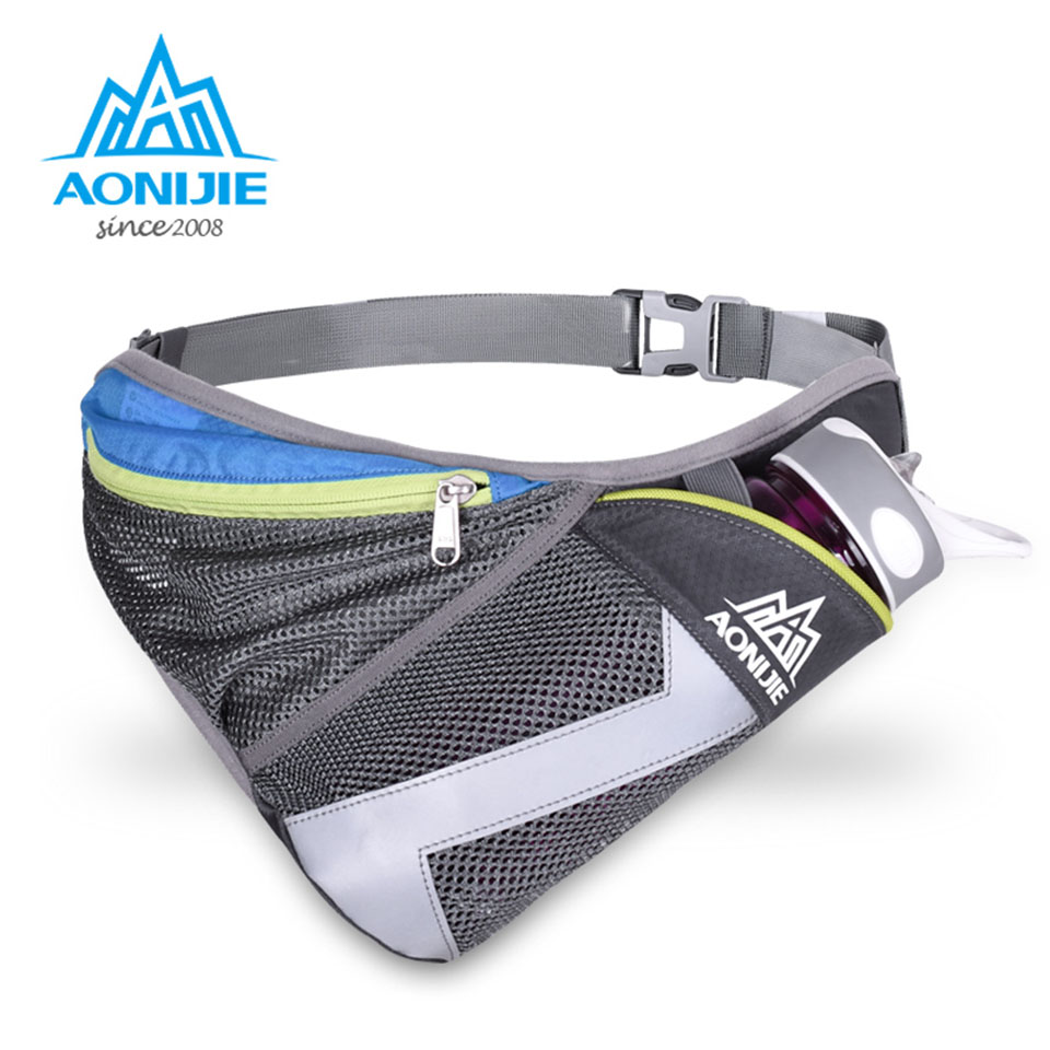 AONIJIE Men Women Lightweight Nylon Running Waist Pack Ladies Fanny Pack Bum Bag Hip Money Hydration Mobile Phone Pouch Belt