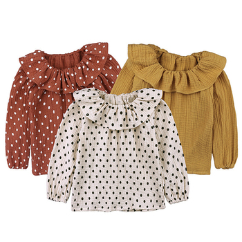 Baby Girl Tops - Ruffle and Polka Dots