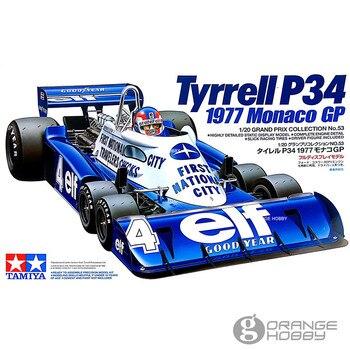 Tamiya 20053 1/20 P34 1977 Monaco GP весы в сборе гоночные модели автомобиля строительные наборы >> OrangeHobby Store