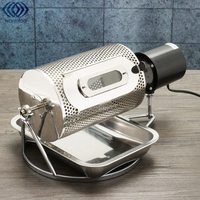 Electric Stainless Steel Coffee Bean Roaster Machine 110V Baking Roasting With Tray Small Electric Home Shop