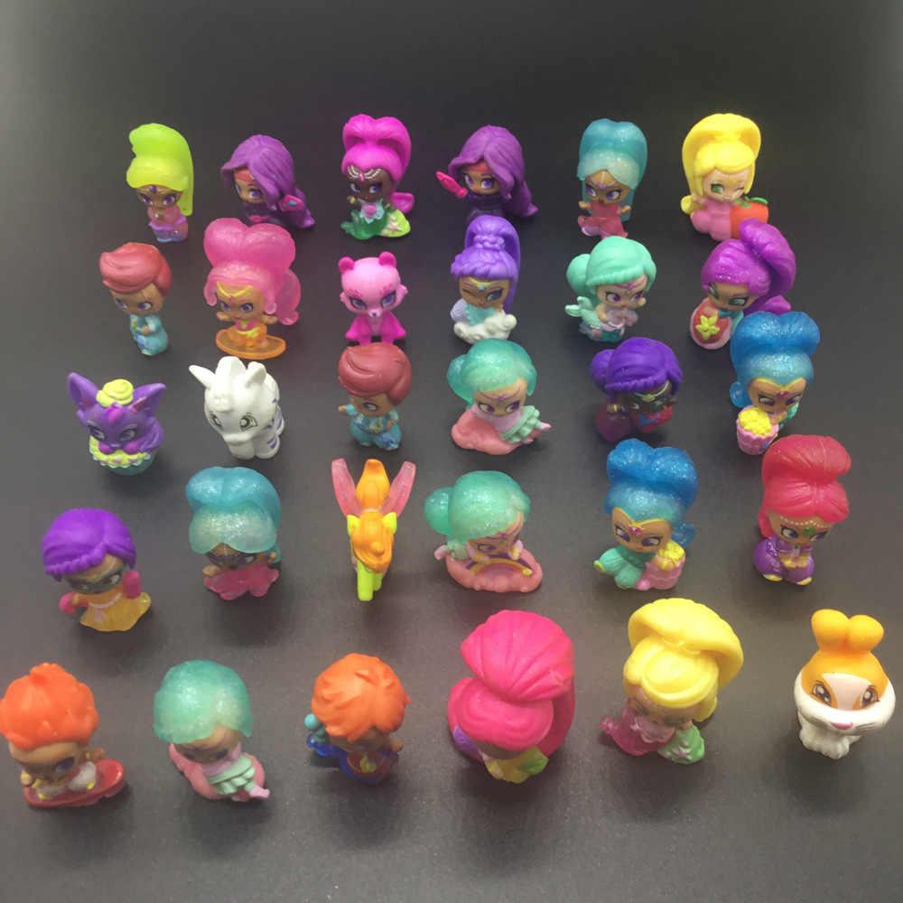 20 PC Shimmer Adik Boneka Lucu Bersinar Gadis Hewan Peliharaan Harimau Nahal Monyet Naga Aksi Figur Samira Mainan untuk Anak Pesta hadiah