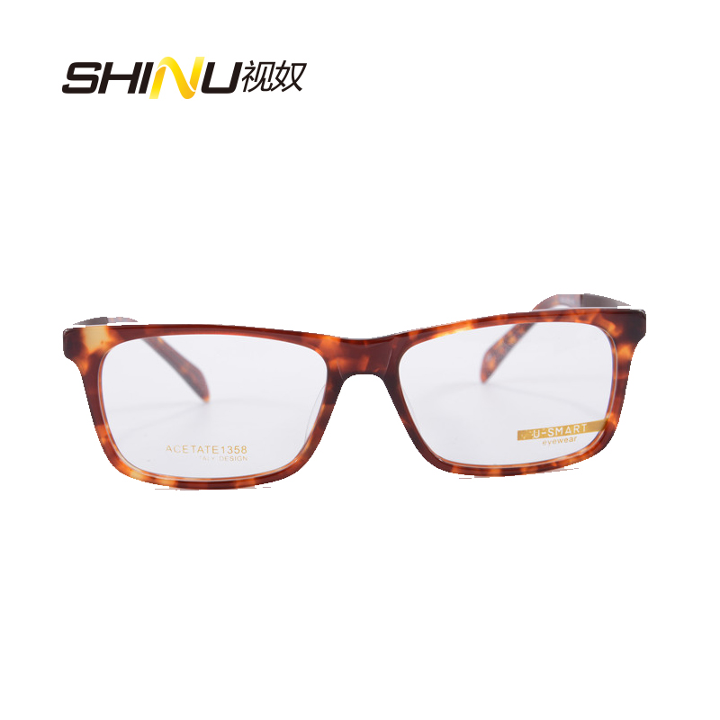 Стиль бренда Для мужчин очки для близоруких каркасные компьютера оригинальная и имитационными линзами, очки для чтения очки с оправой Eyeglasses1358