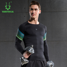 Men's Sport Compression Shirt Tights Base Layer Fitness Spandex Fleece Running Long Sleeve Bodybuilding Clothes Gym T-shirt