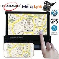 7 сенсорный экран Бесплатная доставка стерео USB/AUX/SD головное устройство дистанционное управление Bluetooth gps Зеркало Ссылка автомо