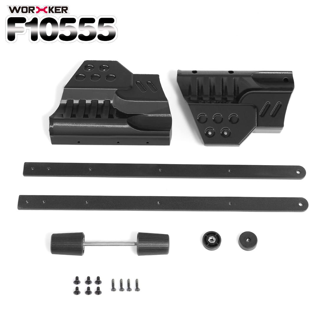 купить WORKER f10555 3D Printing Pull-down Kit for Nerf Zombie Strike ZED Squad Longshot CS-12 Blaster - Black по цене 1844.09 рублей