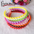 Girls head hoop candy colored plastic wave shape children hair headdress  lady Hairbands hair bands hair accessories for women
