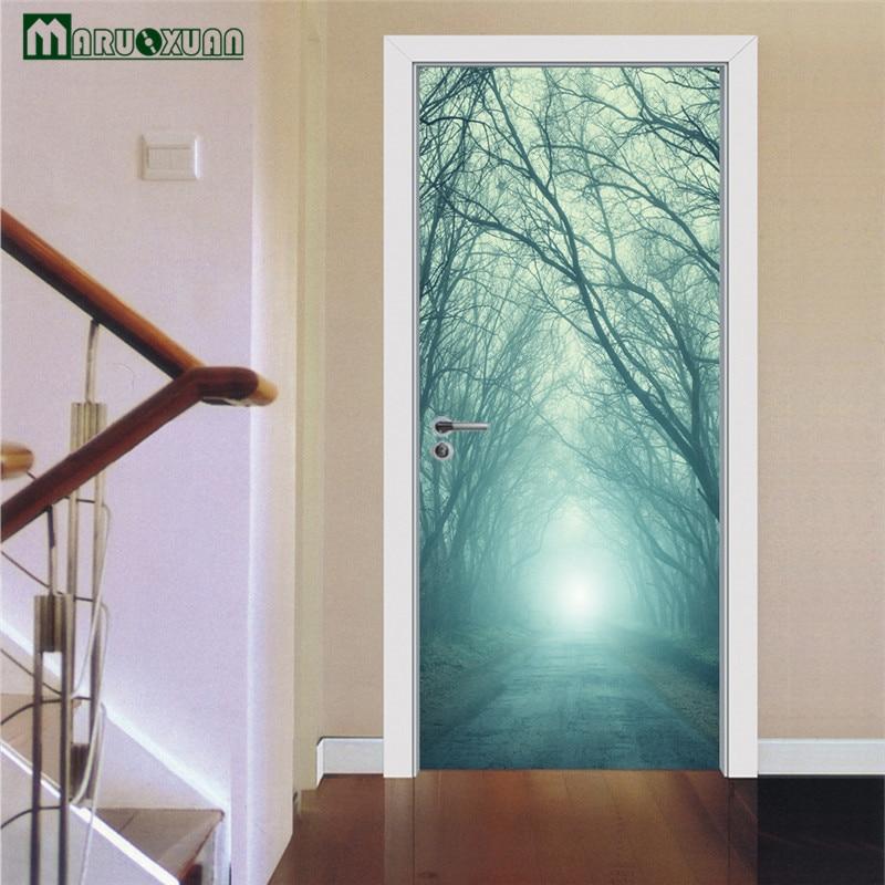 Superb Maruoxuan 2017 New 3D Magic Forest Creative Door Sticker Bedroom Corridor  Door Background Decorative PVC Wall Sticker In Wall Stickers From Home U0026  Garden On ...
