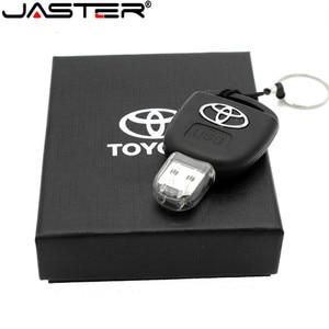 Image 1 - JASTER Car Key Model Creative fashion gift  USB Flash drive pen drive memory stick usb 2.0 64GB 32GB 16GB 8GB memory U disk