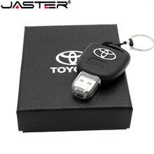 JASTER araba anahtarı modeli yaratıcı moda hediye USB Flash sürücü küçük sürücü bellek sopa usb 2.0 64GB 32GB 16GB 8GB bellek U disk