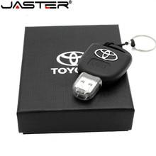Vara da memória da movimentação da pena da movimentação do flash de usb do presente da forma criativa modelo chave do carro de jaster usb 2.0 64gb 32gb 16gb 8gb memória u disco