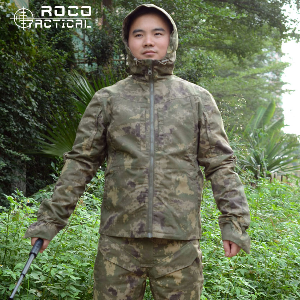 Mens Military Clothing Includes Hooded Jacket & Pants Adult Ripstop Soldier Camouflage Army Clothing Camo Combat Army Suit lurker shark skin soft shell v4 military tactical jacket men waterproof windproof warm coat camouflage hooded camo army clothing