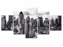 5 pieces / set of Beautiful city landscape wall art for decorating home Decorative painting on canvas Wholesale/XC-City-51