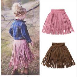 Одежда для малышей с кисточками для девочек юбки детские длинные Длина праздничное платье юбка одежда
