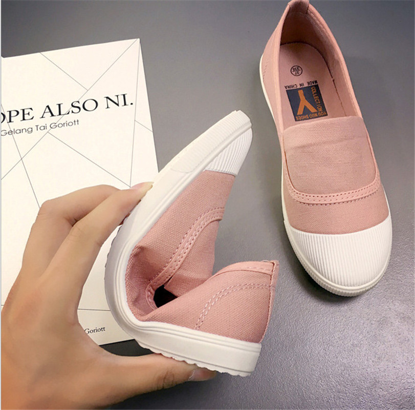 7d1e9ac7c5b3 Super soft 2018 new Spring summer shoes woman canvas shoes Stylish  simplicity Breathable casual flat office shoes high quality