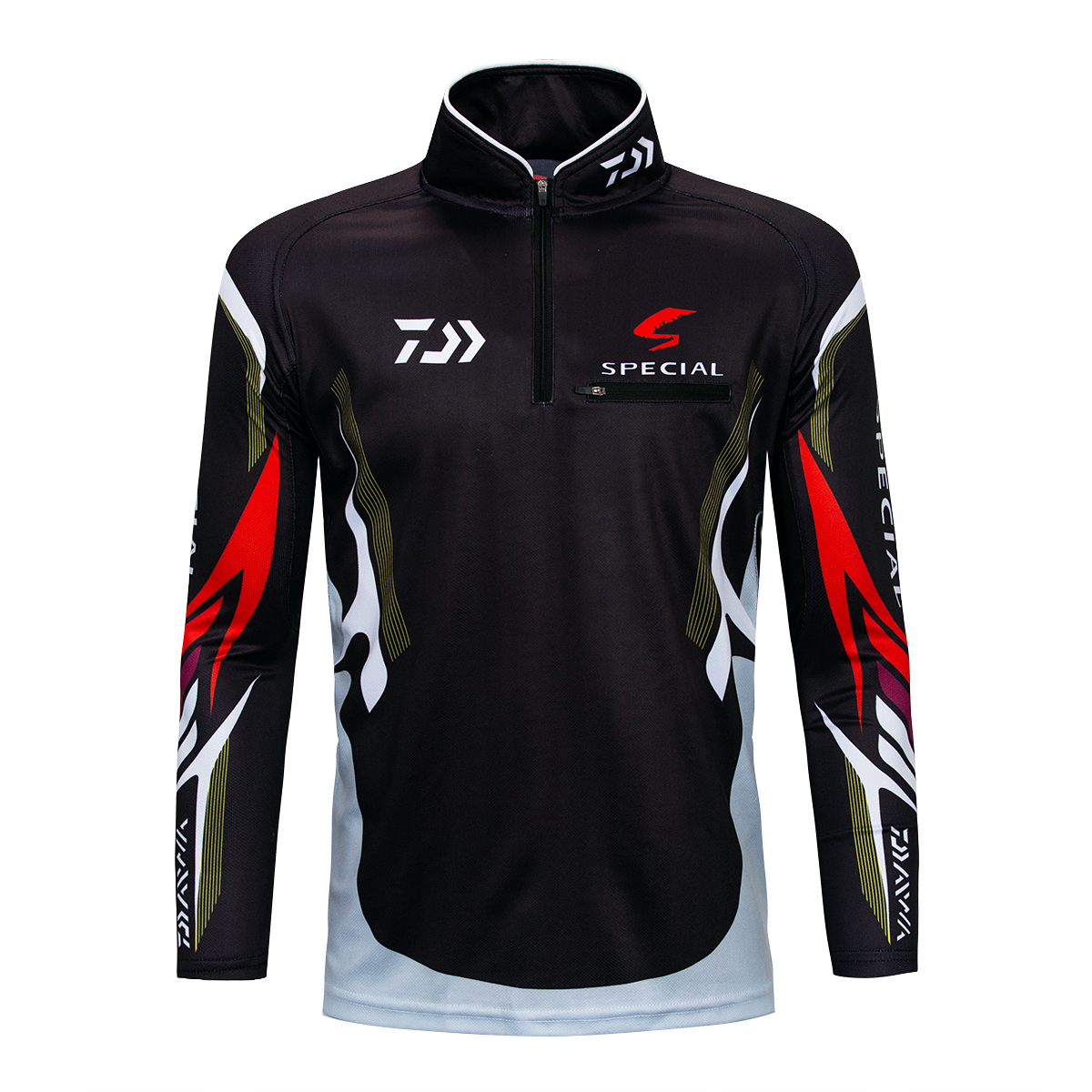 85f8552d Performance Fishing Shirt UPF 50+ Dri Fit Men's Tech Long Sleeve Shirt UV  Sun Protection Quick Dry Mesh Rash Guard Loose Fit