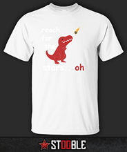 Reach For The Stars TRex T-Shirt - Direct from Stockist New T Shirts Funny Tops Tee Unisex  High Quality Casual